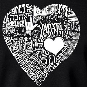 NEW Graphic Love symbol LA Pop Art/word art shirt